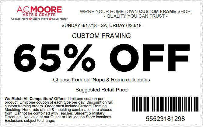 AC Moore Coupons 01