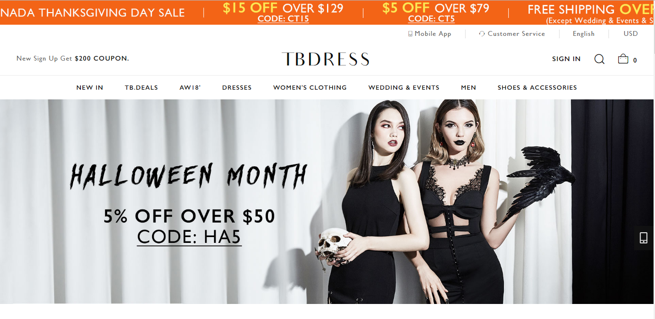 TBdress Coupons