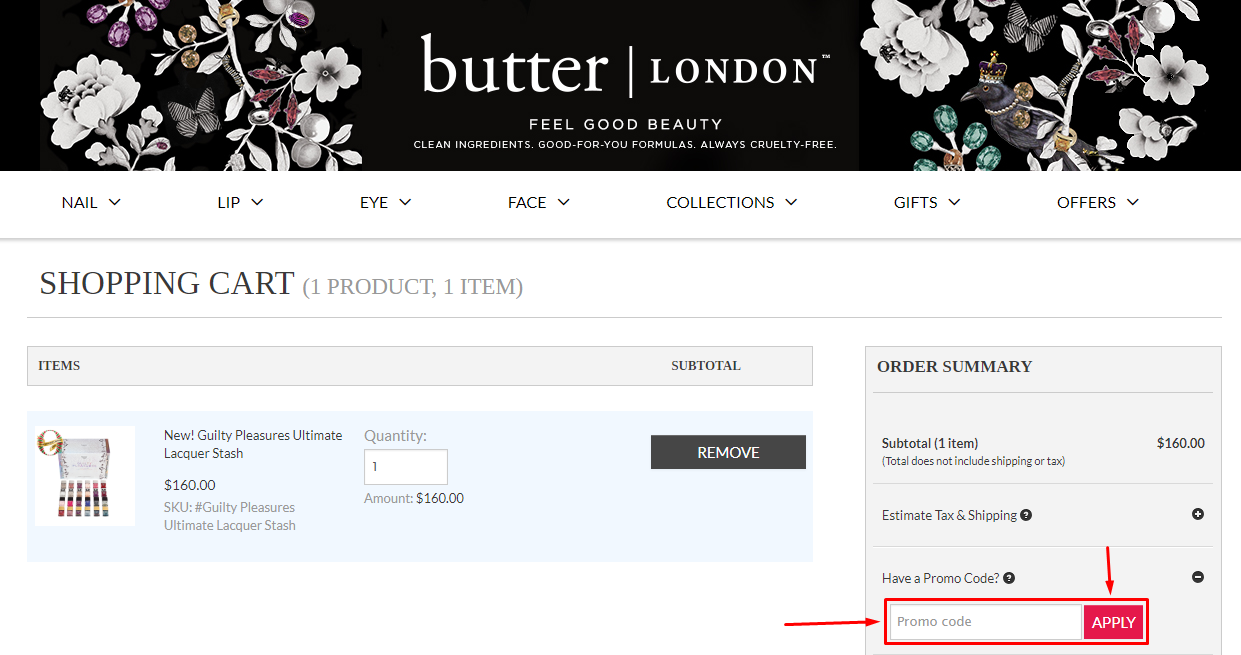 butter LONDON Coupons